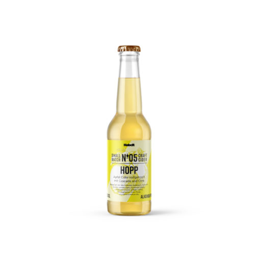 Hopp No. 5 alkoholfrei - Kaltgehopfter Schweizer Cider - Mosterei Kobelt + Co.